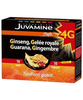 Juvamine Ginseng Gelée royale Guarana Gingembre